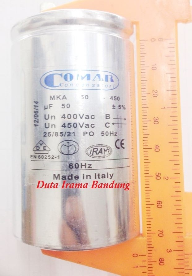 Motor-Kondensator 50uF 400//450V AC Comar