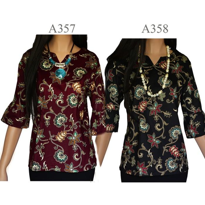 harga Kemeja blouse atasan batik blus a357a358 Tokopedia.com