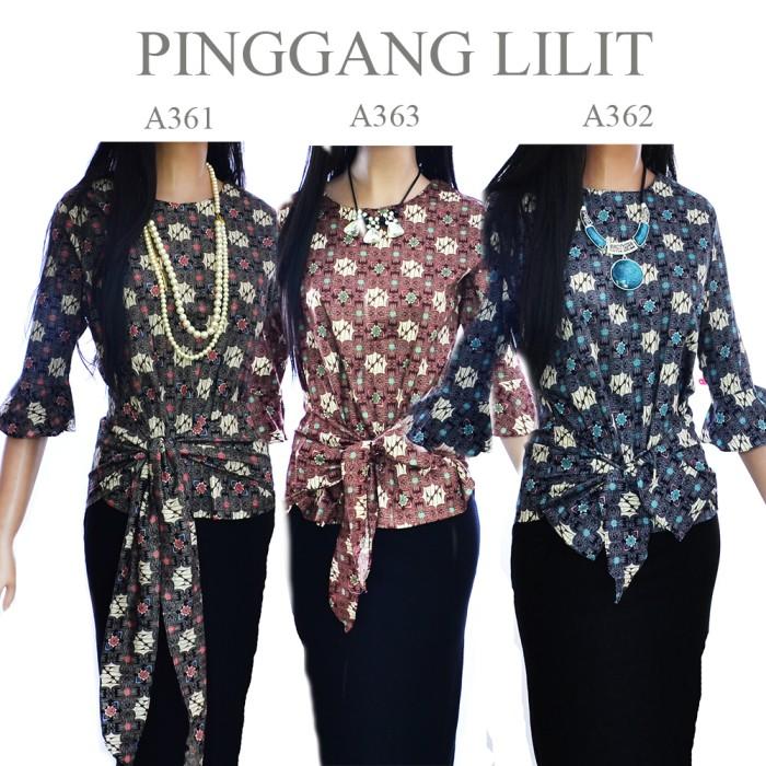 harga Kemeja blouse atasan batik blus pinggul lilit  a361a362a363 Tokopedia.com