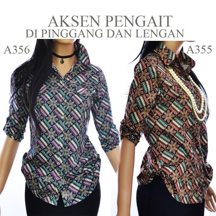 harga Kemeja blouse atasan batik blus a355a356 Tokopedia.com