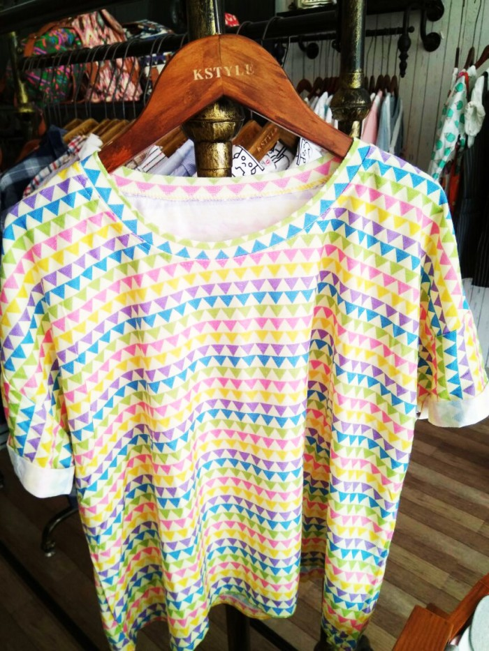 harga Kaos atasan tribal big size oversized korea slim crop tee baju wanita Tokopedia.com