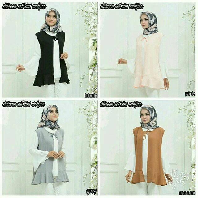 Jual Baju Muslim Wanita Blouse Kaos Lengan Panjang Shireen Set Kab Bandung Widariry Fashion Tokopedia