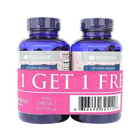 harga Buy 1 Get 1 | Wellness Omega 3 Fish Oil 1000mg 75 Softgels Tokopedia.com