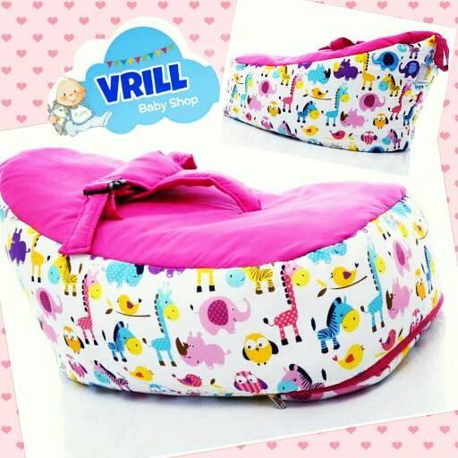 Baby Bean Bag Pink Animal | Kasur atau Sofa Bayi