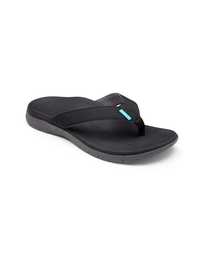 vionic men's islander black sandal pria - hitam 43