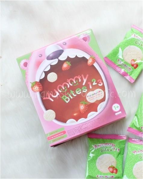 harga Yummy Bites 123 - Strawbearry (toddler Rice Creacker) Tokopedia.com