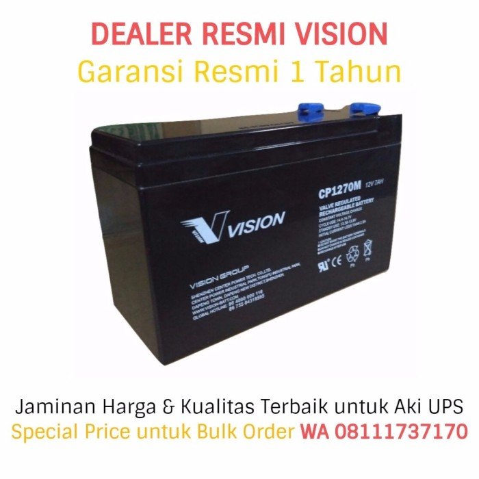 harga Aki ups vision 12v - 7ah (garansi resmi). battery ups / baterai ups Tokopedia.com