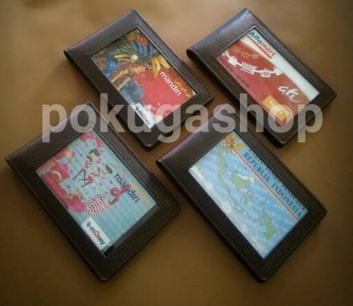 harga Name tag leather/id card holder/nametag /name tag kulit /dompet kartu Tokopedia.com