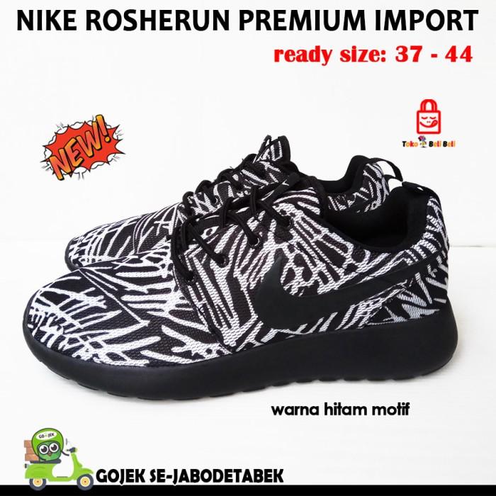 site réputé 7a8fb 2cec5 Sepatu Nike Roshe Run Premium Import - Hitam Motif. Sepatu Pria - Hitam, 37