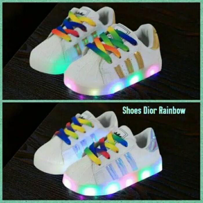 harga Sepatu led anak rainbow/sepatu ket anak Tokopedia.com