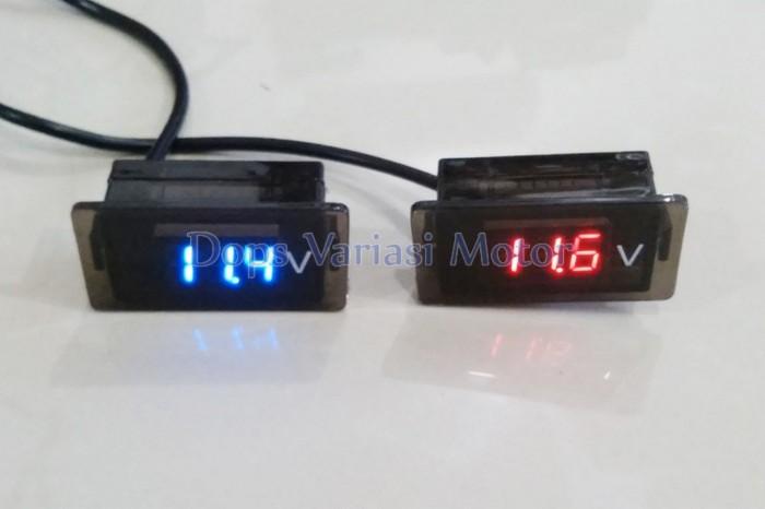 harga Voltmeter Led Digital Volt Meter Aksesoris Motor Tokopedia.com