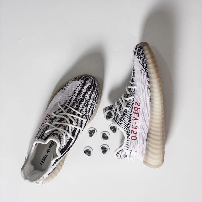 Jual Sepatu Adidas Yeezy Boost 350 V2 Zebra Putih Hitam Jakarta