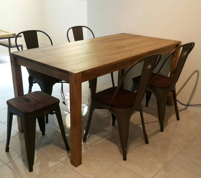 Jual Dining Table 4 Chairs 70x140 Kota Batam Deng Workshop Tokopedia