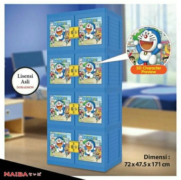harga Khusus gosend---lemari plastik naiba 3d doraemon susun 4 Tokopedia.com