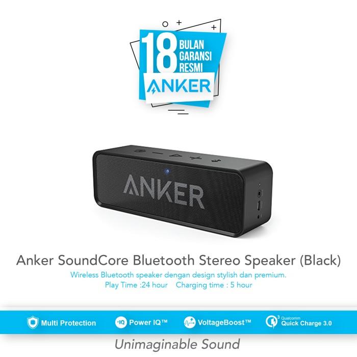 anker soundcore bluetooth stereo speaker - black [a3102011]
