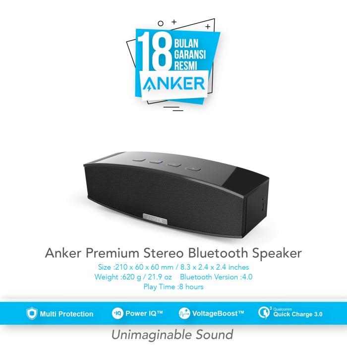 anker premium soundcore stereo bluetooth 4.0 - black [a3143h11]