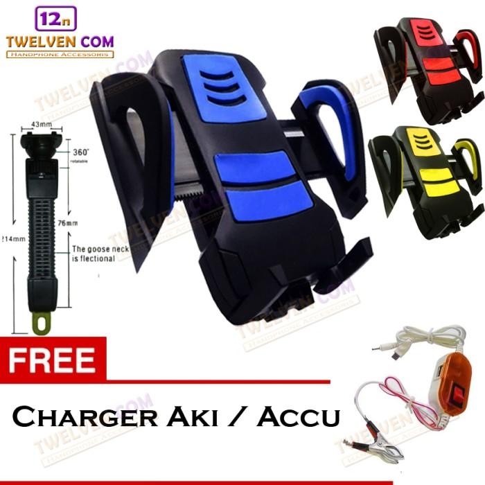 harga Holder motor bracket universal holder spion - free charger accu / aki Tokopedia.com