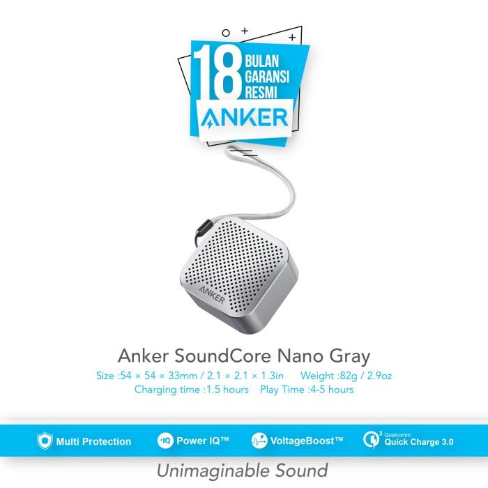 anker soundcore nano wireless speaker - gray [a31040a1]