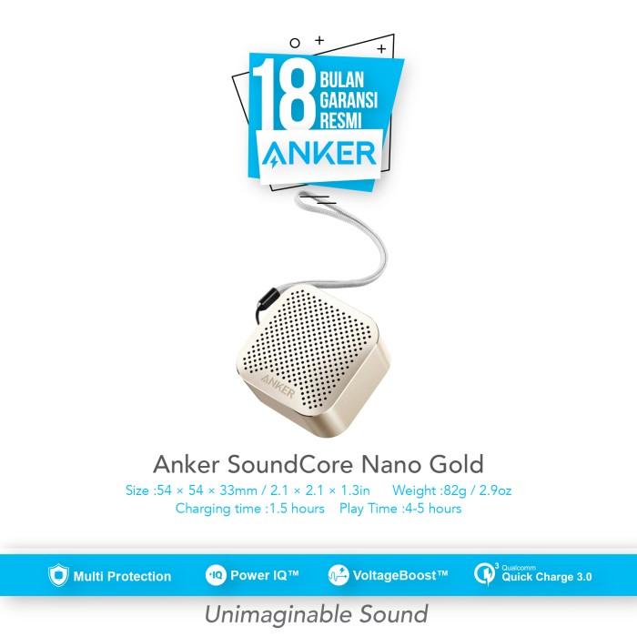 anker soundcore nano wireless speaker - gold [a31040b1]