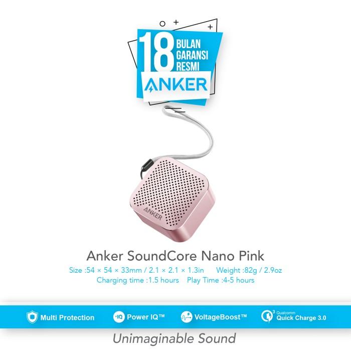 anker soundcore nano wireless speaker - rosegold [a3104051]