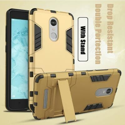 Casing Case Cover XIAOMI REDMI NOTE 3 armor rubber rugged with stand