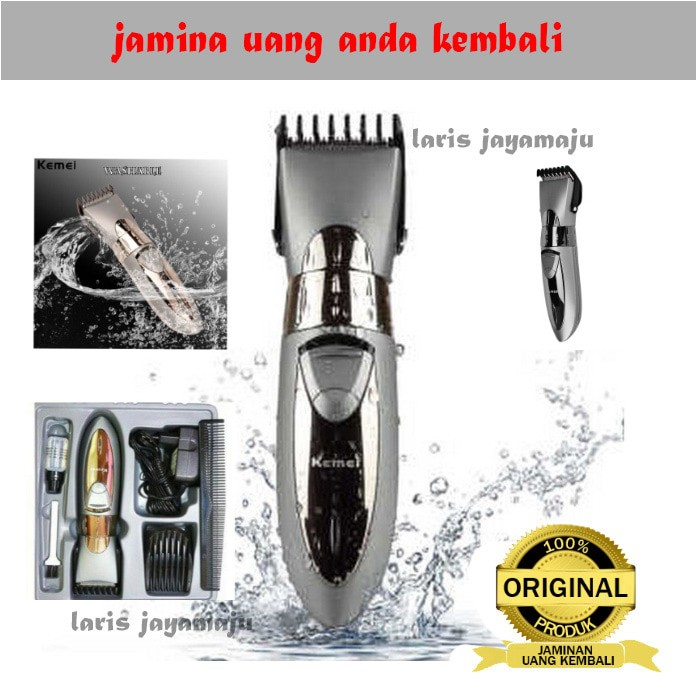 Jual Mesin cukur Kemei km-605 Rechargeable Hair Clipper Waterproof ... 51003d09f6