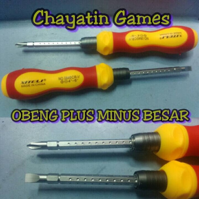 Tekiro Obeng Kristal Ph00 X 150 Mm 32 Obeng Plus Obeng Kembang Source Obeng Set Listrik. Source · Obeng besar (min plus)