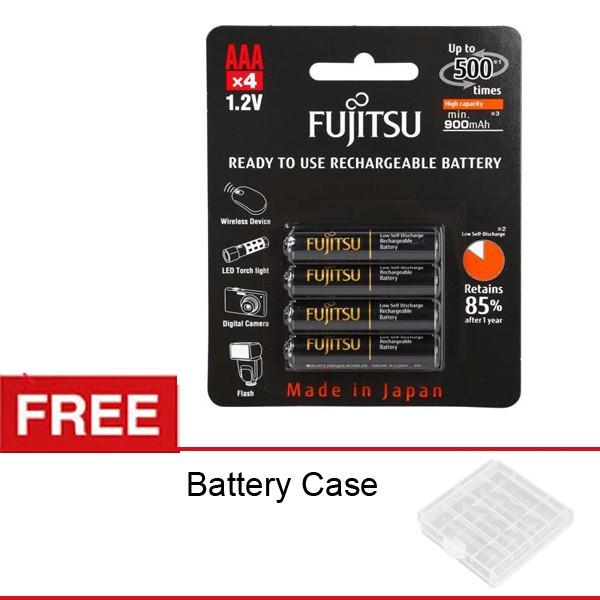 Foto Produk Fujitsu Battery Rechargeable PRO AAA 900mah - Bp4 - Free Battery Case dari Rajawalidigital