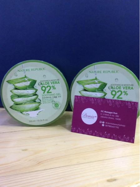 harga Nature republic aloe vera 92% soothing gel - 300ml -original 100% Tokopedia.com