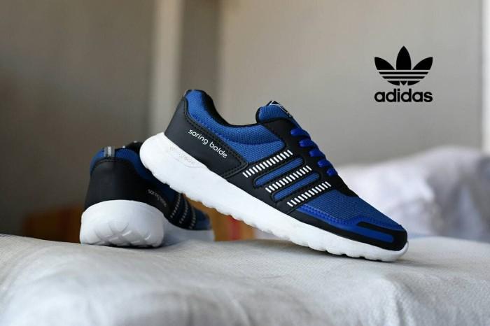 harga Sepatu sport running adidas soringblade cloudfoam biru hitam Tokopedia.com