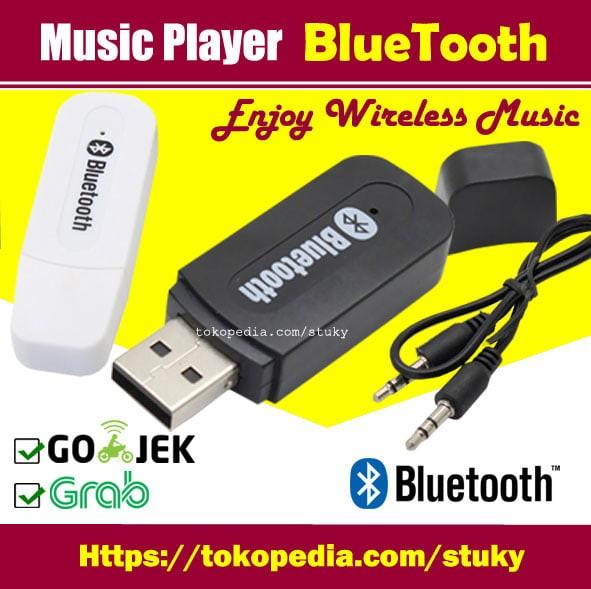 USB Bluetooth Audio Music Receiver USB - Hitam