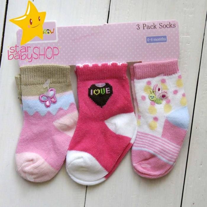 Baby Grow - Kaos Kaki Bayi Kaos Kaki Anak 3in1 (isi 3Pasang)