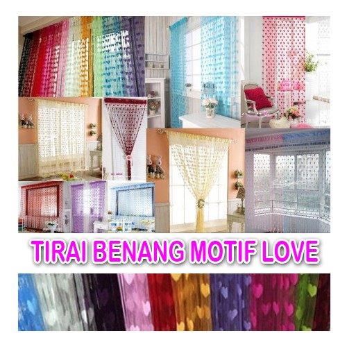 [BENANG LOVE] Tirai Benang Love Tirai Kamar Tirai Jendela Unik / AZ064