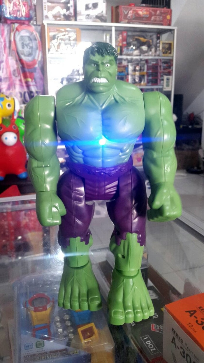 Jual Hulk Avengers ,Battery Operated, Light and Sound Effects -  momsdavidshop | Tokopedia