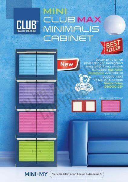 Lemari plastik miniclub 4 susun