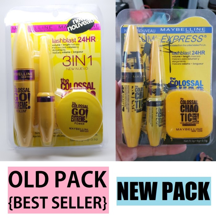 harga Maybelline Colossal 3in1 Set / Mascara Eyeliner Powder 3 In 1 Tokopedia.com
