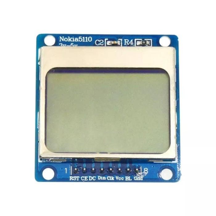 harga Lcd module nokia 5110 for arduino white backligh + pin header Tokopedia.com