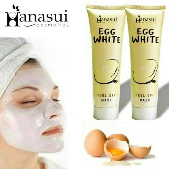 HANASUI - Egg White Peel Off Mask Masker Putih Telur ORIGINAL - BPOM