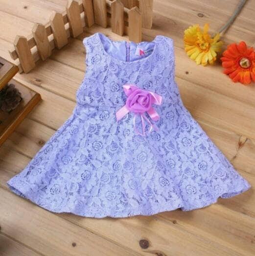 Jual Baju Bayi Perempuan Baby Dress Gaun Pesta Bayi 10 12