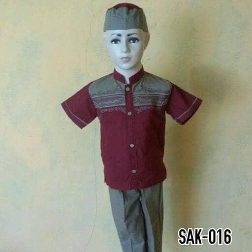 harga Baju koko anak set celana baju peci setelan koko anak muslim sak 016 Tokopedia.com