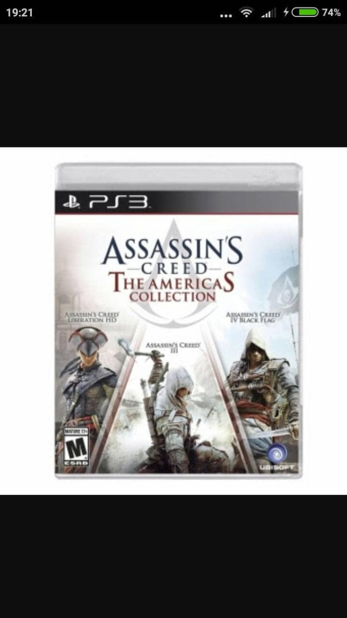 Jual Bd Ps3 Assasin Creed America Colection Promo Lebaran Kota