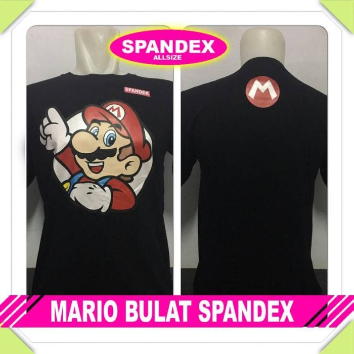harga Kaos oblong super mario bros bulat spandex Tokopedia.com