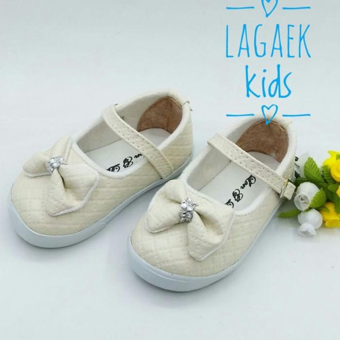 harga Sepatu anak 1 2 3 tahun replika gucci sepatu anak perempuan krem  btf03 Tokopedia 3f39466142