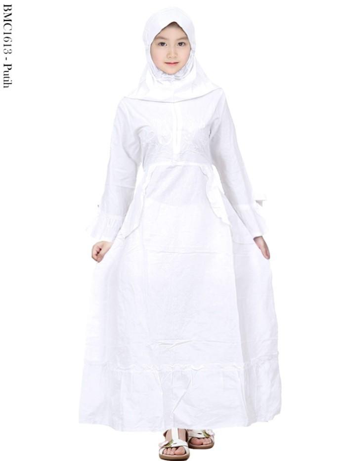 Jual Baju Muslim Gamis Anak Putih Remaja Tangung Umur 11 15 Tahun Deliandra Ag Tokopedia