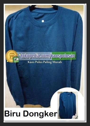Jual Kaos Polos Lengan Panjang Karet Gelang Warna Biru Dongker Ukuran M Jakarta Selatan Kaos Polos Paling Murah Tokopedia