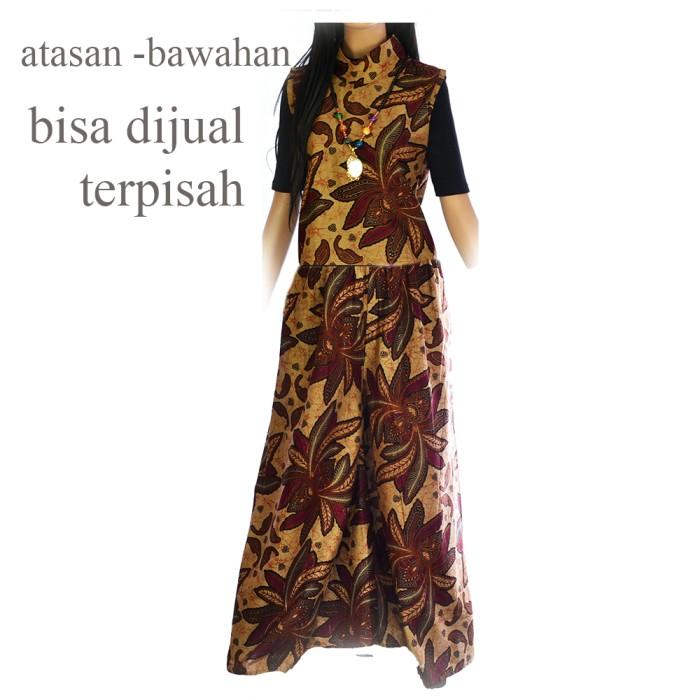 Setelan batik lengan pendek dan celana kulot cutbray batik a391c55