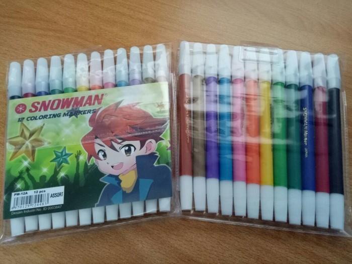 Foto Produk Spidol Kecil Snowman Marker 12 Warna - sign pen dari Paper Shop Jkt