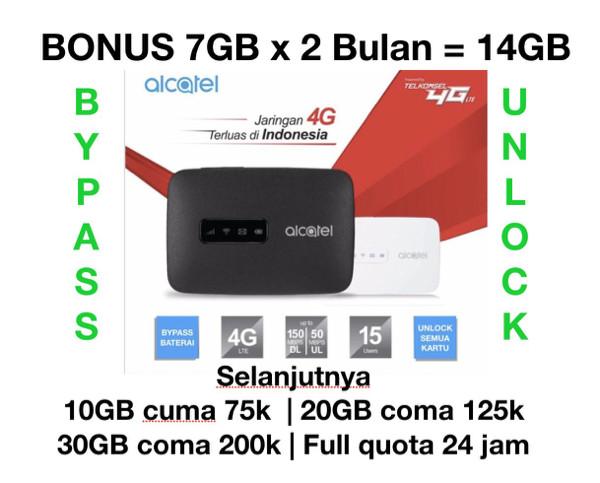 harga Mifi 4g Lte Alcatel Mw40 Bundling Telkomsel 14gb 2bulan Tokopedia.com