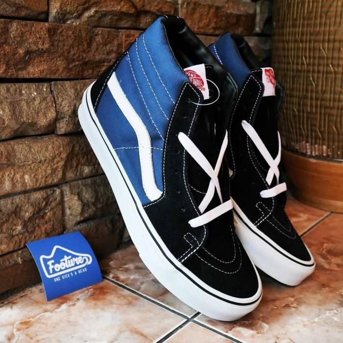 3bc8da5ad0 Jual Diskon Sepatu Vans SK8 Hi Navy Black - Footure Jakarta