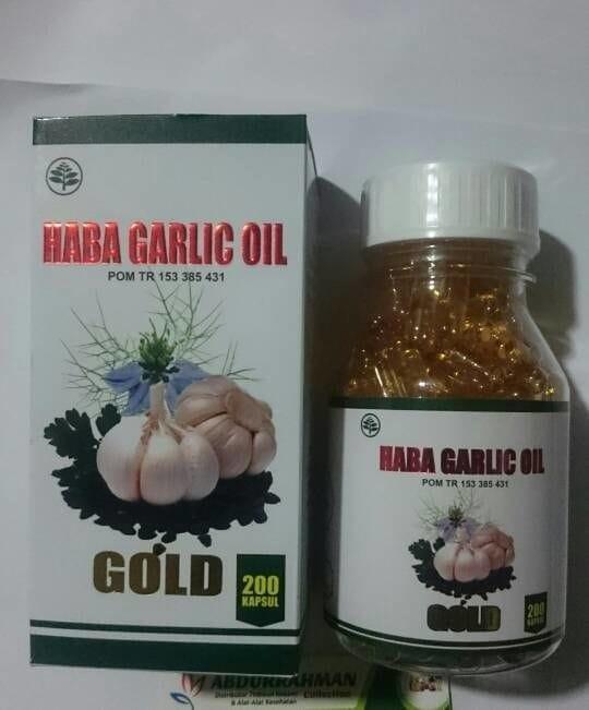 Habba garlic oil gold 200 kapsul cv al-afiat botol besar 200…